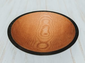 12 inch Ebonized Red Oak Bowl – Bee's Oil Finish