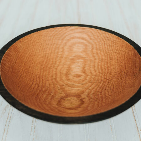 12-in Red Oak Bowls with ebonizing
