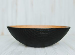 12-inch Ebonized Red Oak Bowl