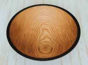 15 inch Ebonized Red Oak Wood Salad Bowl – Bee's Oil Finish