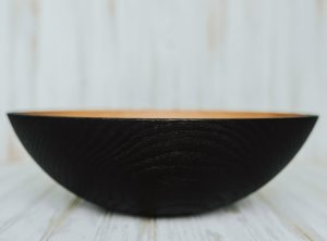 17-inch Ebonized Red Oak Bowl