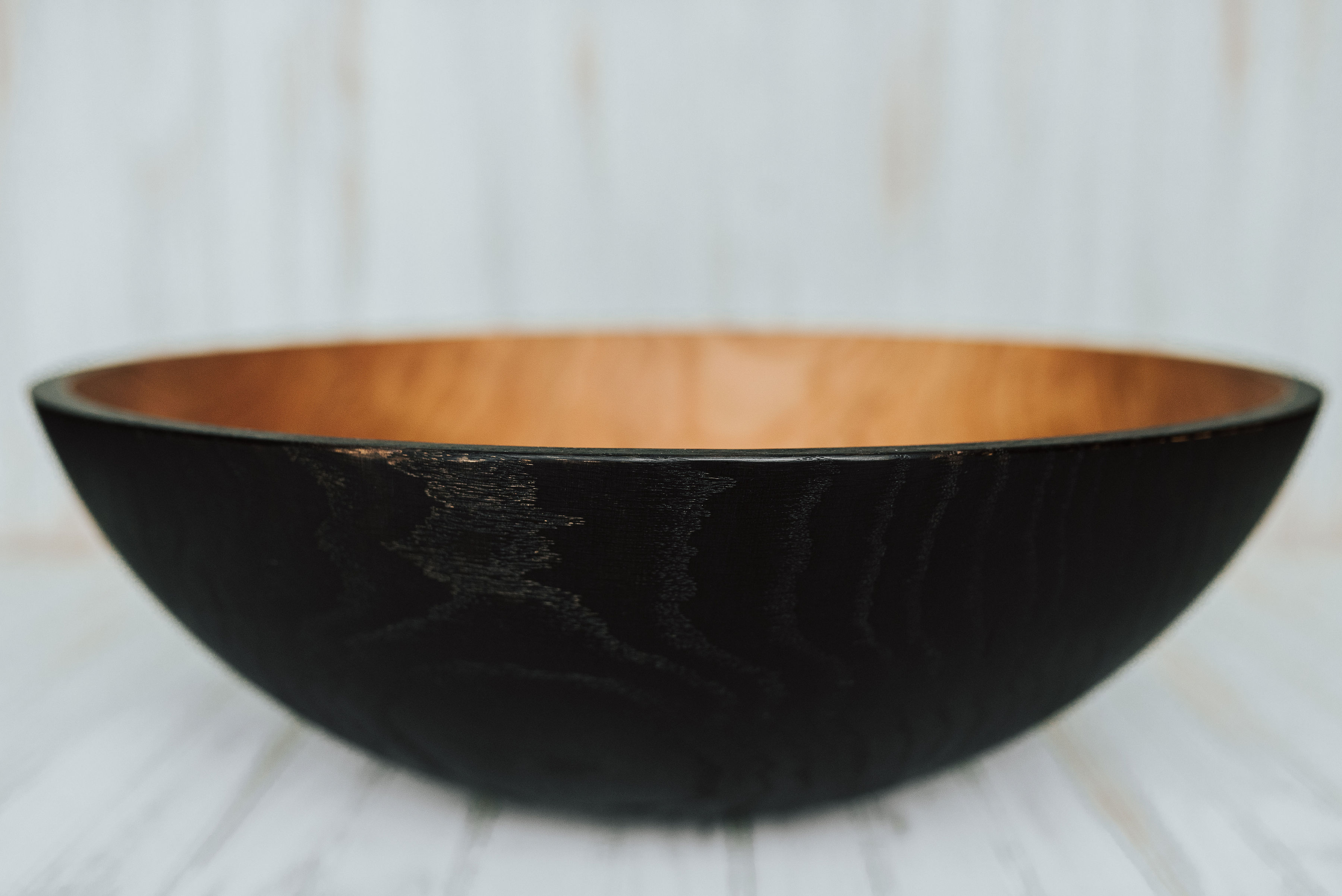 Ebonized Solid Cherry Wood Salad Bowl Set 5 Bowls Holland Bowl Mill