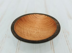 6 inch Ebonized Red Oak Bowl – Bee's Oil Finish