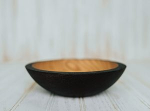 7 inch Ebonized Red Oak Bowl – Bee's Oil Finish