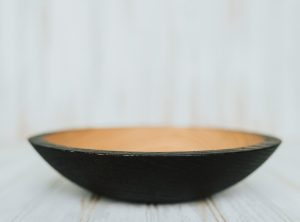 9 inch Ebonized Red Oak Bowl – Bee's Oil Finish