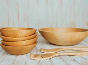 15-inch Maple Wooden Salad Bowls Set – Bee's Oil Finish