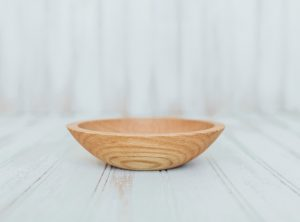 A 6-inch small wood bowl