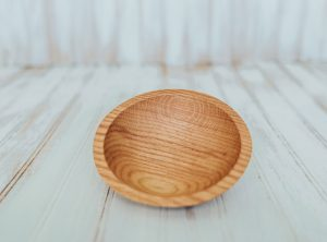 6-Inch Red Oak Wood Bowl