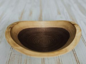 9-inch small live edge bowl from Walnut