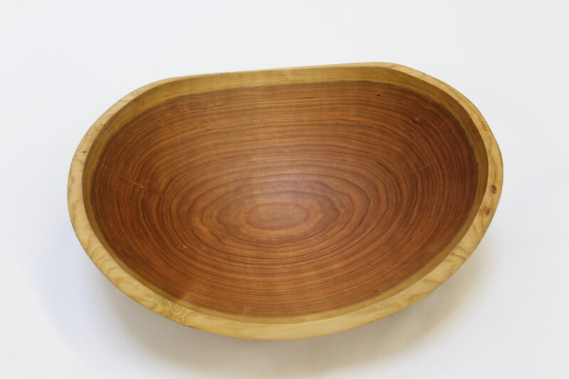 17-inch large cherry wooden bowls
