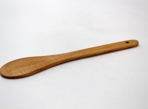 12″ Maple Flat Spoon – Bee's Oil Finish