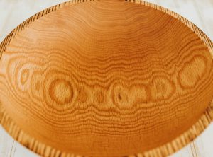 15 inch Torched Red Oak Bowl-Bee's Oil Finish