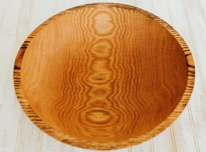 12 inch Torched Red Oak Bowl-Bee's Oil Finish