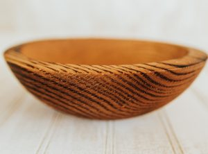9-inch red oak bowls