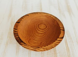 7 inch Torched Red Oak Bowl-Bee's Oil Finish