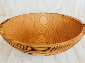 12-inch Torched Red Oak bowl