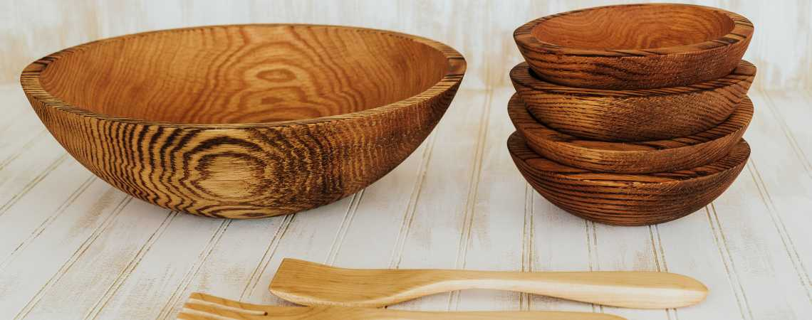 Torched Red Oak Bowls