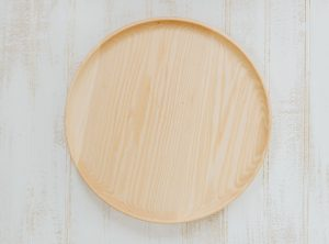 "10"" Basswood Scoop Style wooden dinner plates"