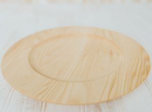 10″ Wooden Plate – Bee's Oil Finish