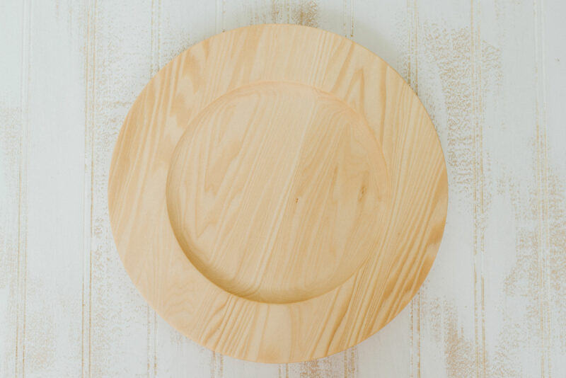 """10"""" handcrafted Basswood plates with center"""