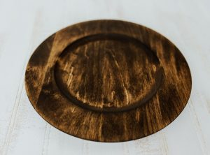 10″ Wooden Plate – Dark Walnut and Bee's Oil Finish