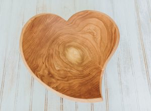 large heart shaped bowls. 15-inch Cherry bowl shaped as a teardrop heart.
