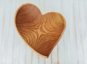 large heart shaped bowls. 17-inch Cherry bowl shaped as a teardrop heart.