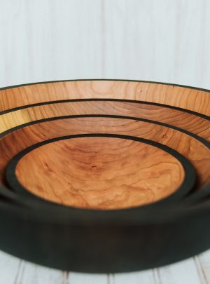 Solid Ebonized Cherry Bowls
