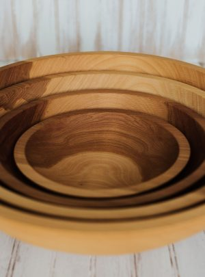 Solid Beech Bowls