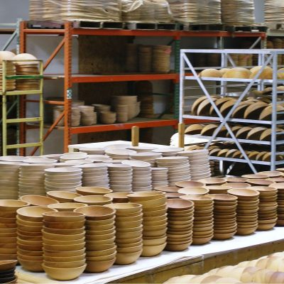 Wooden bowl production facility at the Holland Bowl Mill produces thousands of bowl every year.