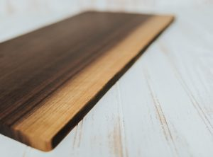 Walnut cutting boards and live edge presentation board