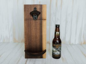 Walnut Wall-Mounted Bottle Opener