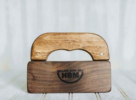 Mezzaluna Knife Holder, Walnut wood