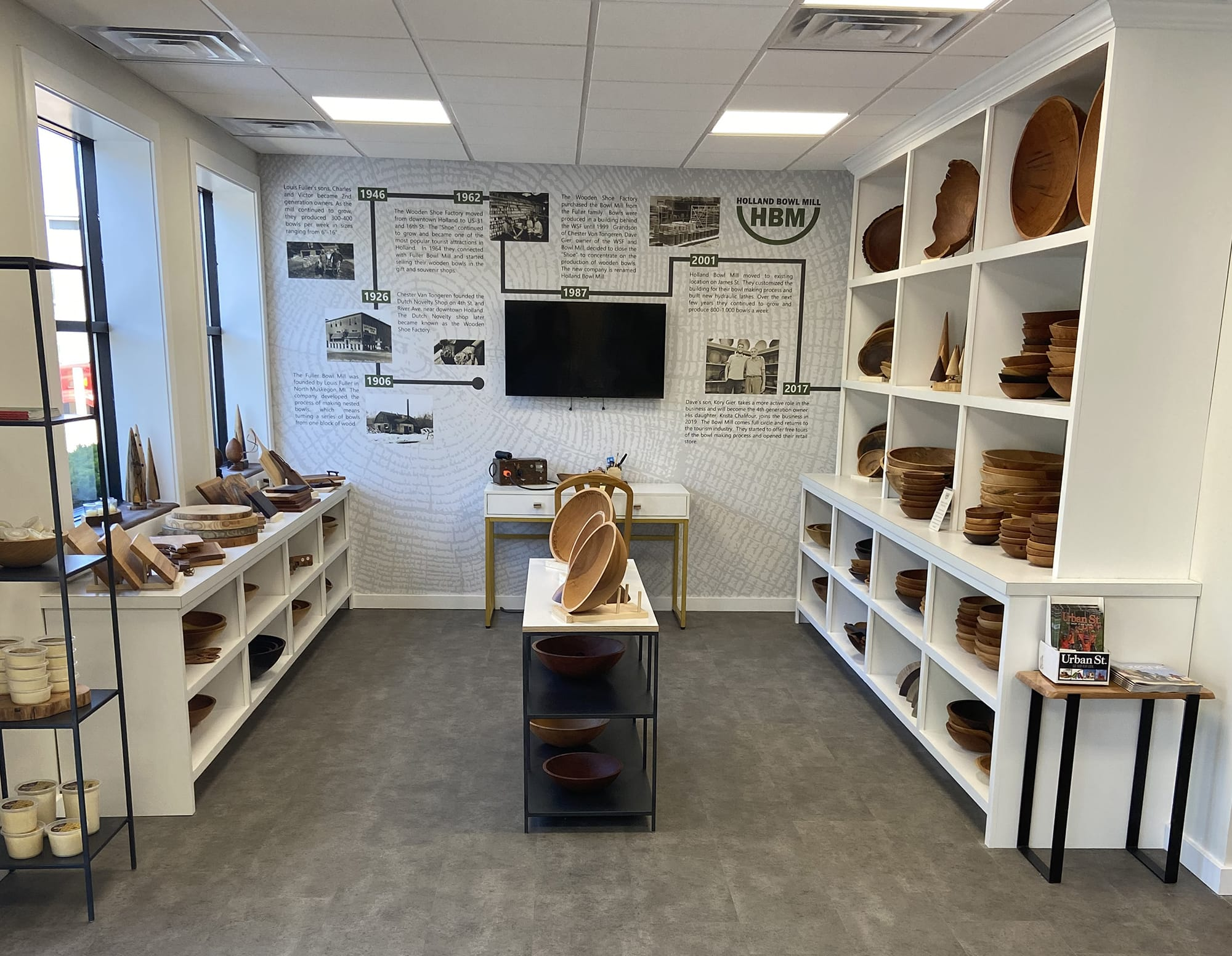 Bowl Showroom. Where to Buy Wooden Bowls. Holland Bowl Mill Showroom