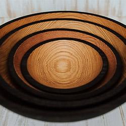Solid Ebonized Red Oak Bowls