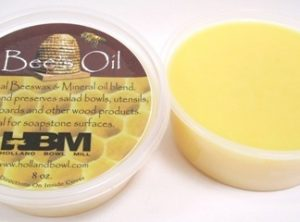An 8 oz. tub of our famous Bee's Oil bowl preserver.