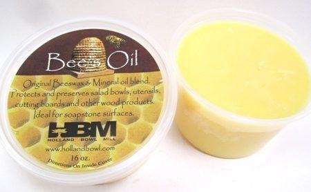 A 16 oz. tub of Bee's Oil Wood Preserver