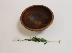 10 inch Beech Bowl – Dark Walnut & Bee's Oil Finish
