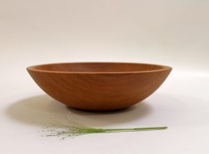 12 inch Beech Bowl – Light Walnut & Bee's Oil Finish