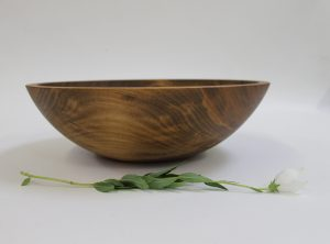 15 inch Beech Bowl – Dark Walnut & Bee's Oil Finish