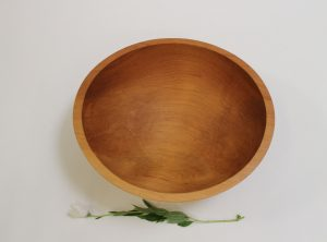 15 inch Beech Bowl – Light Walnut & Bee's Oil Finish