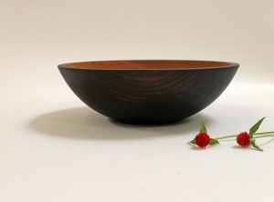 15 inch Ebonized Cherry Bowl – Bee's Oil Finish