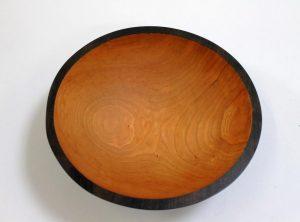 12 inch Ebonized Cherry Bowl – Bee's Oil Finish