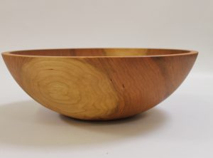 17 inch Cherry Bowl – Bee's Oil Finish