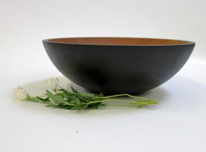 17 inch Ebonized Cherry Bowl – Bee's Oil Finish