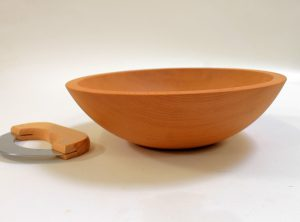 12 inch Beech Wood Chopping Bowl & Mezzaluna Knife Set – Bee's Oil Finish