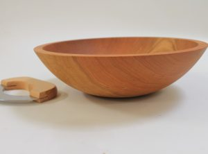 12 inch Cherry Chopping Bowl Set – Bee's Oil Finish