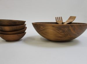 15 inch Beech Bowl Set – Dark Walnut Finish