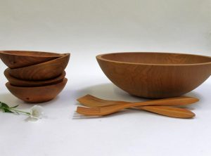 15 inch Cherry Bowl Set – Bee's Oil Finish