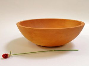 15 inch Hard Maple Bowl – Bee's Oil Finish